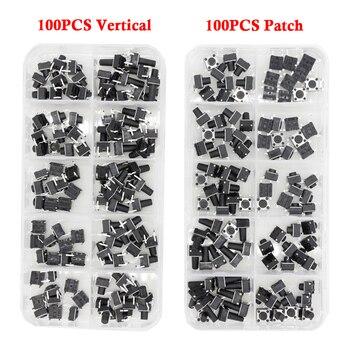 100 PCS Tact Switch 4-legged vertical / patch 6*6*4.1/4.3/5/6/6.5/7.5/8/9.3/10.5/12mm Micro Push Button Switch Key Switch 100 pcs box of tact switch 4 legged vertical patch 6 6 4 1 4 3 5 6 6 5 7 5 8 9 3 10 5 12mm micro push button switch key switch