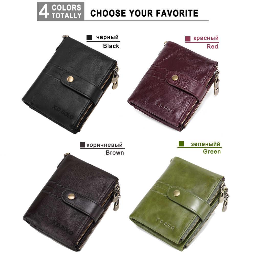 X.D.BOLO Leder Frauen Brieftasche Vintage Frau Brieftasche Leder Echtes Zipper Münzfach Brieftaschen Karte Halter Brieftasche Großhandel