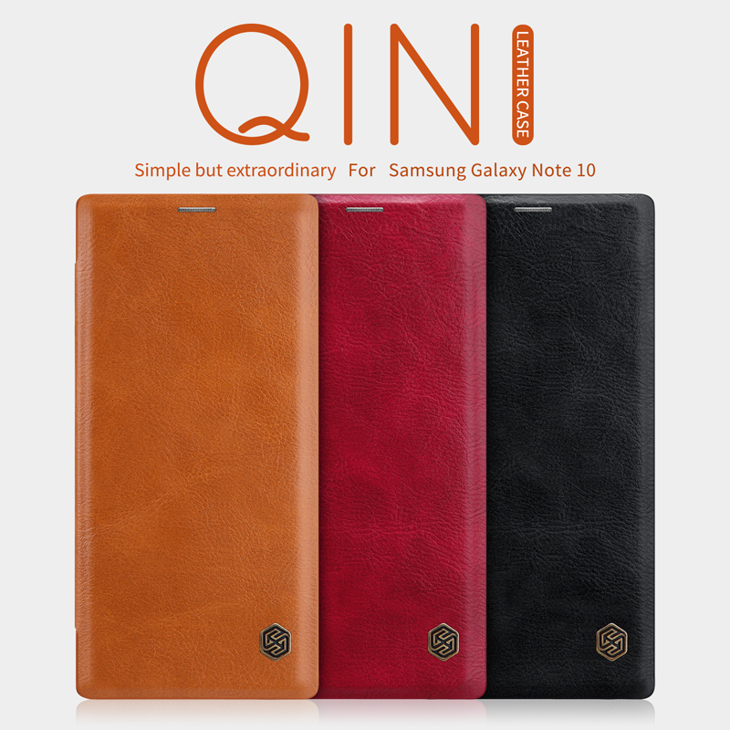 Flip Case Samsung Note 10 9 8 S8 S9 S10 S10e S20 PLus NILLKIN Qin - მობილური ტელეფონი ნაწილები და აქსესუარები - ფოტო 2