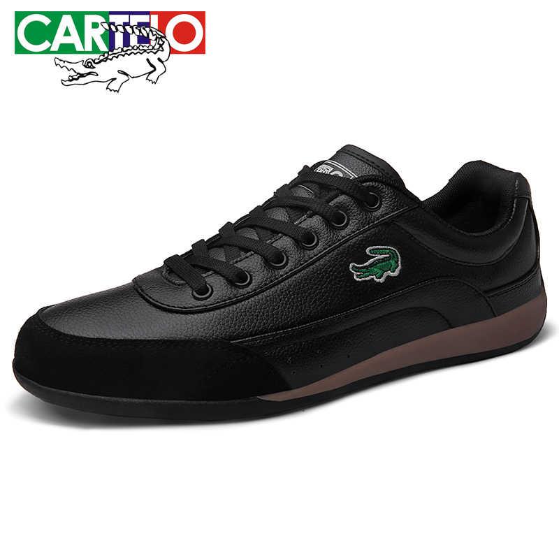 CARTELO erkek ayakkabıları moda spor ayakkabı erkek klasik deri bağcıklı ayakkabı erkek düşük üst konfor düz ayakkabı erkekler