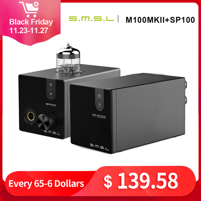 SMSL M100 MKII+SMSL SP100 Audio DAC USB AK4452 Hifi dac Decoder DSD512 XMOS XU208 TUBE Headphone Amplifier Optical Coaxial Input