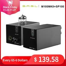 SMSL M100 MKII + SMSL SP100 الصوت DAC USB AK4452 Hifi dac فك DSD512 XMOS XU208 أنبوب مضخم ضوت سماعات الأذن مدخل بصري محوري