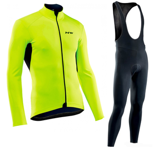 Northwave Pro team Racing Long Sleeve Cycling Jersey Set NW Clothes men suit outdoor sportful bike MTB clothing paded pants