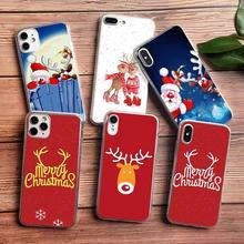 цена на PUNQZY Soft TPU Christmas tree Santa Claus Phone Case For Samsung Galaxy A50 A70 S20 S11 S10 S9 S8 PLUS S7 Soft TPU Santa Claus
