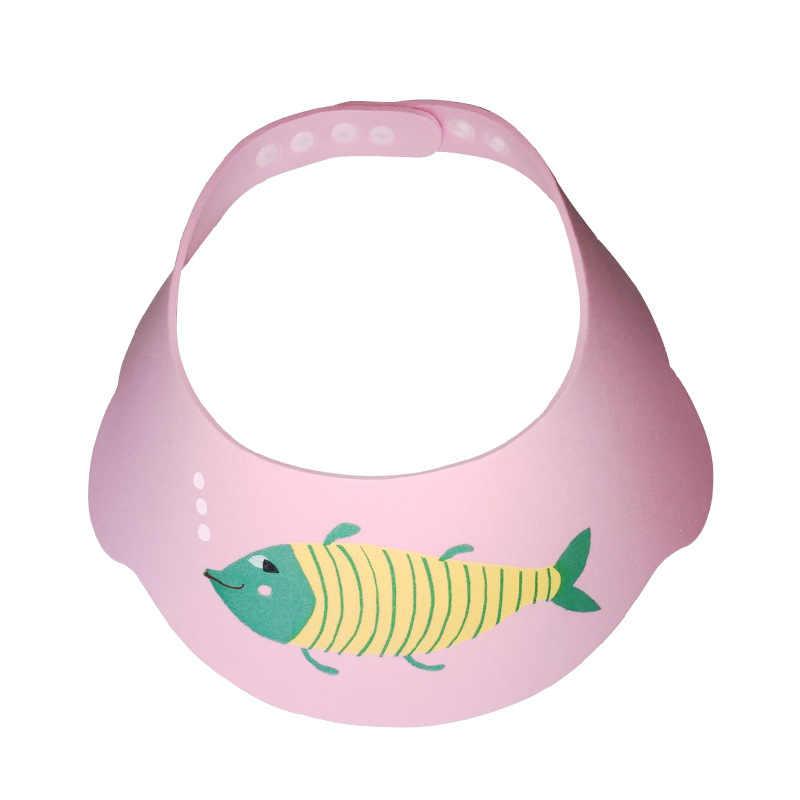 1 piezas ajustable champú de bebé sombrero de dibujos animados de ducha de baño de lavado del cabello de baño proteger niños bebé lavado Cap