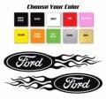 Для 1 пары/2 шт. наклейки на автомобиль с логотипом Ford Flame Style правая и левая наклейки/выберите размер и цвет