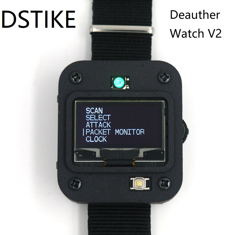 DSTIKE Deauther Watch V2 ESP8266 Programmable Development Board  Smart Watch  Arduino  NodeMCU