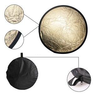 """Image 2 - SH 12 """"(30cm) 2 in 1 çok diskli Diffuers ışık yuvarlak reflektörü taşınabilir katlanabilir gümüş ve altın fotoğraf stüdyosu"""