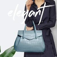 ZOOLER Only Simple Women Leather Handbags for Bussiness Women Female Tote Bags Roomy Commuting Handbags Green Cow Bag#WG233