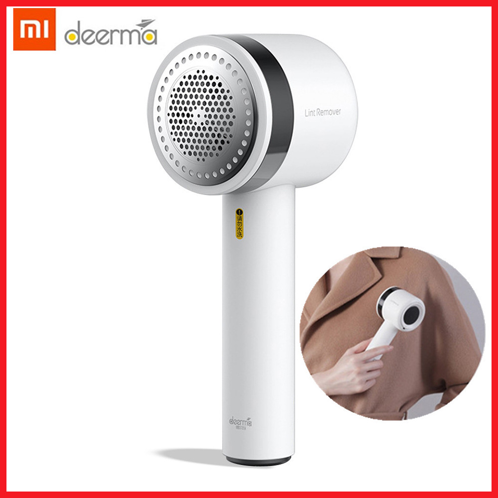 New Xiaomi Deerma Portable Lint Remover Hair Ball Trimmer Sweater Remover 7000r/min Motor Trimmer Concealed Sticky Hair Tube