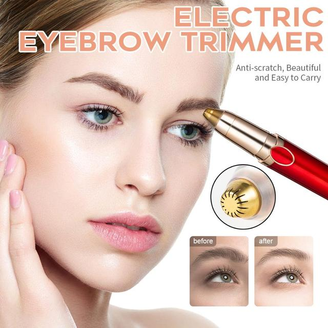 Electric Eyebrow Trimmer Scissors Eyebrow Trimmer Epilator Eyebrow Trimmer Pen Mini Painless Eye Brow Trimmer For Women 1