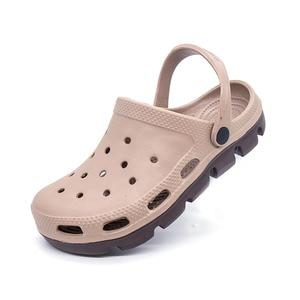Image 3 - קיץ אופנה להחליק על גברים גומי חוף סנדלי Mens כפכפים נעלי גן Zuecos Hombre לסתום Cholas סנדל גבר בתוספת גדול גודל 49s