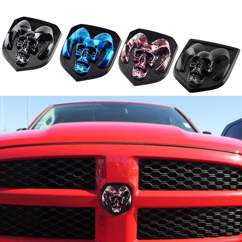 3D наклейка на переднюю решетку автомобиля, наклейка для Dodge RAM 1500 2010 2018 калибр, зарядное устройство, эмблема череп, стикер s, декоративные аксессуары Наклейки на автомобиль      АлиЭкспресс