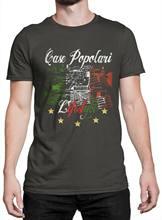 Camiseta uomo caso popolari estilo de vida maglietta 100 cotone grafite