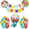 Cocomelon воздушные шары для семейной вечеринки, украшение на день рождения, принадлежности для вечеринки в честь будущей матери, набор латексн...