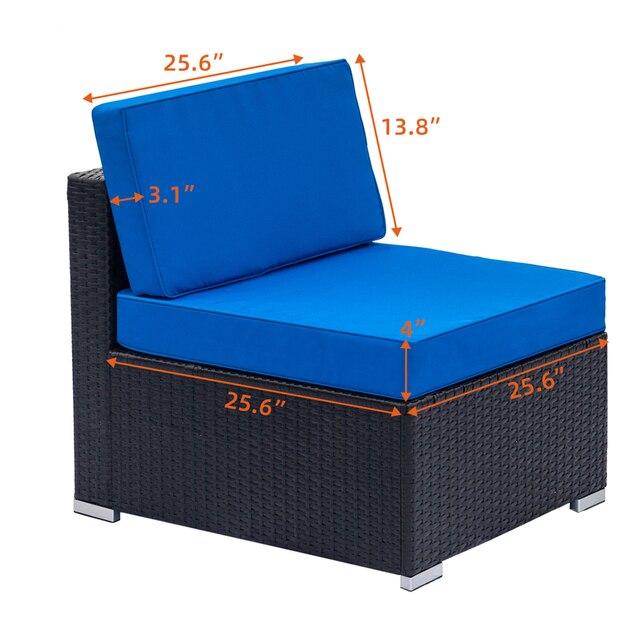 Single Sofas  75x65x63CM Blue /Black 2