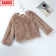 fur coat 	fur vest fur jacket denim fur jackets coats fur parka real fur 2019 sheepskin coat womens cheap LLHPBFUR Rabbit Fur Thick Warm Fur 10801 STANDARD REGULAR Knitted O-Neck Nine Quarter Single Breasted Striped Casual Slim
