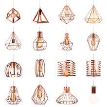 Lampe suspendue en fer industriel au design rétro, couleur or Rose, Luminaire décoratif d'intérieur, idéal pour un Loft, un salon, une chambre à coucher ou une cuisine, E27