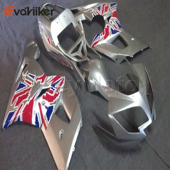 Custom motorcycle cowl for 600 650 2003-2005 ABS Plastic motorcycle fairing+5Gifts+silver