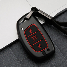Zinc Alloy Car Remote Car Key Case Cover For Hyundai Tucson Creta ix25 i10 i20 ix20 i40 Elantra Sonata Solaris Santa Mistra HB20 key cover new tpu for hyundai i30 i40 ix25 creta ix35 hb20 solaris elantra accent for kia k2 k5 rio sportage car key case