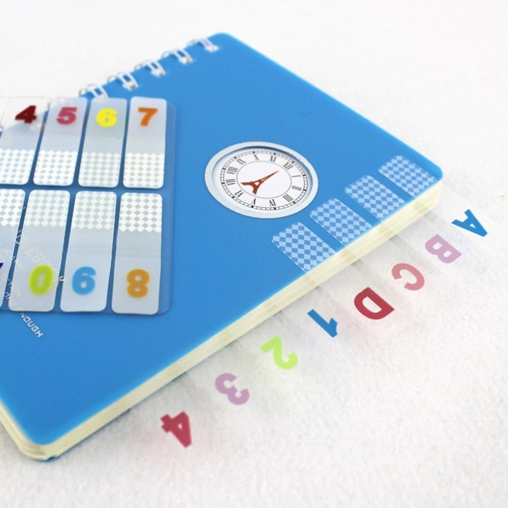 P12-18 Plastic Classification Indicator Stickers Index Stickers Transparent