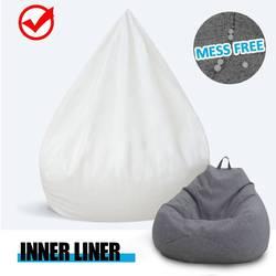 Su geçirmez tembel BeanBag kanepeler iç astar için uygun 100x120cm büyük fasulye çanta kılıfı ve doldurulmuş hayvan oyuncak yükseltilmiş sürümü