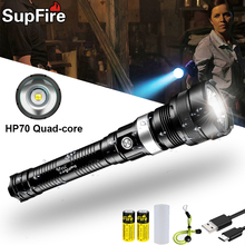 Supfire Y12-U LED High Power Glare Flashlight  Military Tactical Flashlight Police Self-Defense Searchlight Rechargeable Torch