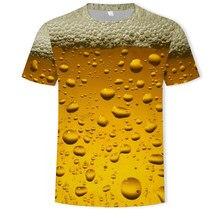 Модная Летняя мужская 3D Футболка с принтом пива, мужская повседневная футболка с круглым вырезом, Мужская футболка с клоуном, Мужская одежд...