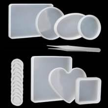 18 шт ручные каботажные изделия силиконовая смола форма круглая