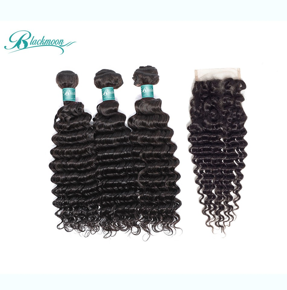 deep wave hair weave bundles with closure--3+4_04