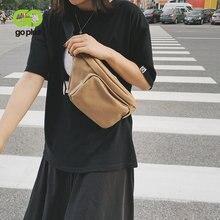 Женская поясная сумка goplus новая дизайнерская холщовая для