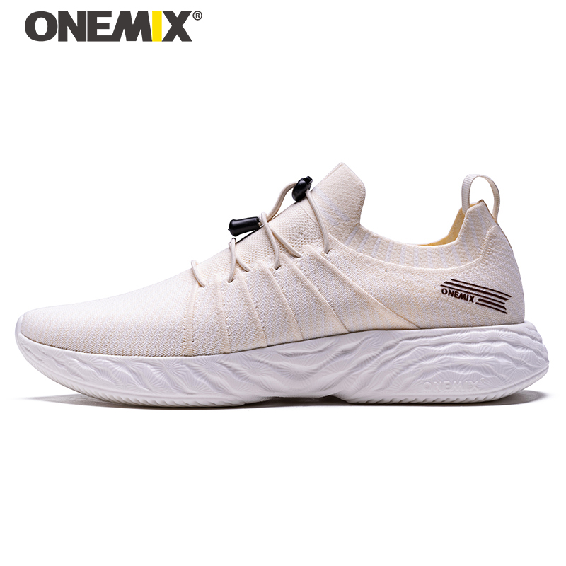 ONEMIX New Popular Style Mens Walking Shoes Lace Up Athletic Shoes Outdoor Jogging Sneakers Comfortable Fast Free Shipping
