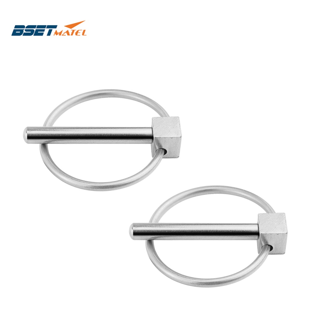 2Xstainless Steel 316 Boat Kayak Canoe Trailer Tractor Trolley Caravan Lynch Pins Linch Pin Clips Retaining Clip Marine Hardware