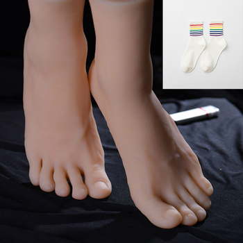 Male Silicone Foot Model Fetishes BDSM Play Gay Foot Worship Master Slave Trampling Shoe  Size 44 Toe Move Freely Fetish Men