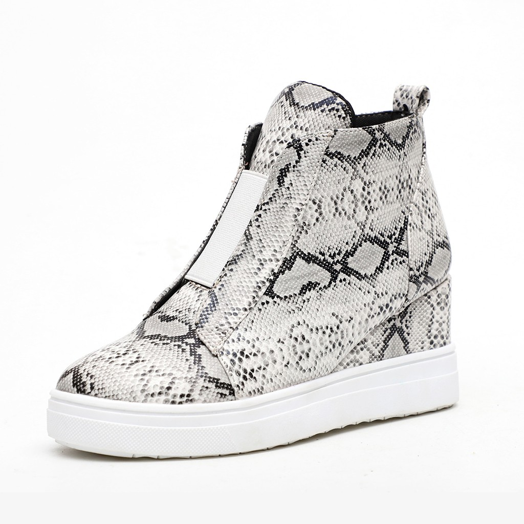 Jaycosin Shoes woman Big size 40 41 42 43 ladies shoes Fashion Retro Wedges Ankle Casual winter boots women pumps women shoes 9 2