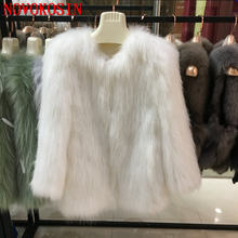 9 цветов Женская куртка из цельного лисьего меха теплый зимний