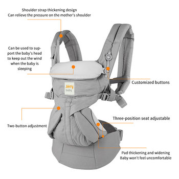 Omni 360 Baby Carrier 0-30 Months Breathable Front Facing Infant Comfortable Sling Backpack Pouch Wrap Baby Kangaroo New carrier 1