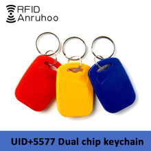 5/10PCS RFID Smart Dual Frequency Chip Tag 125Khz T5577 EM4305 Rewritable Badge 13.56Mhz NFC S50 Clone Copy Token Keychain
