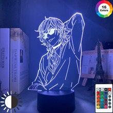 Acrílico lâmpada 3d bl anime yarichin cadela clube yuri ayato luz para a cama quarto decoração luz da noite yarichin cadela clube lâmpada yuri ayato