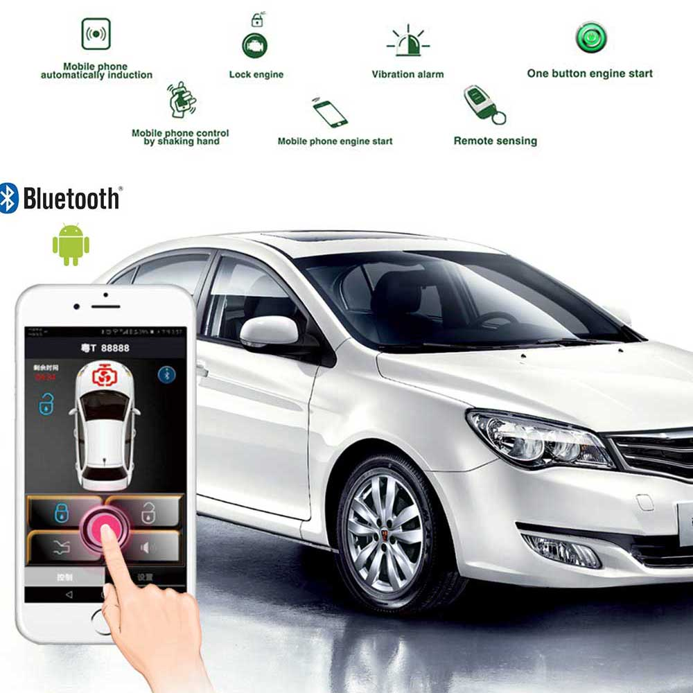 Car Alarm With Auto Start Keyless Entry Car Accessories Central Locking Quad Lock Start Stop Button Auto Alarm Remote Start