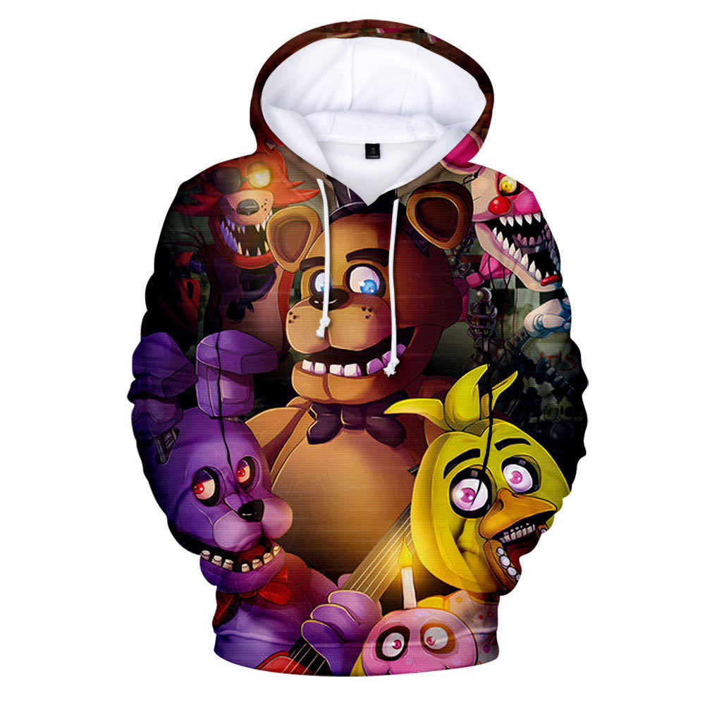 Boys Girls 3D Five Nights at Freddys Hoodie Youth FNAF Active Hooded Sweatshirt