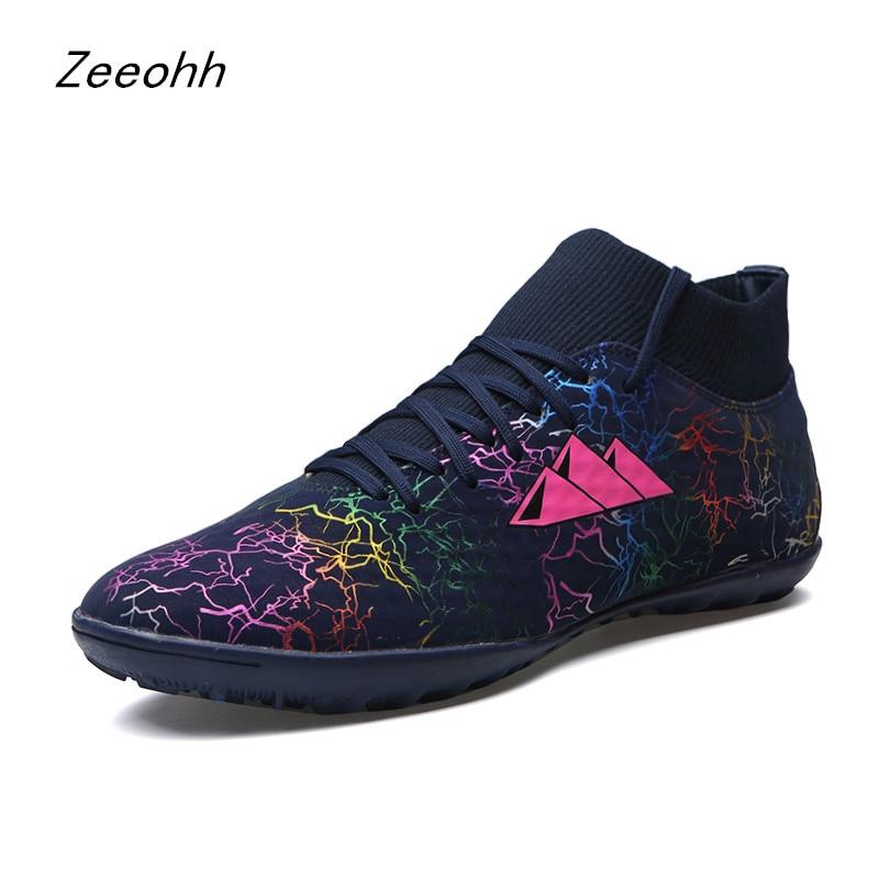 Football Shoes Men Kids Cleats Indoor Gym Training Boots Sneakers Men Breathable TF Sport Shoes Turf Futsal Chuteira Futebol