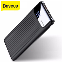Baseus 10000mAh Power Bank Quick Charger 2A 3.0 Portable External Battery Charger Travel With Digital Player Powerbank For Phone