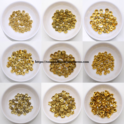 (50 Pcs / Lot!)  Free Shipping European Spacer Charm Beads Caps Alloy Antique Gold Plt for Jewelry Making