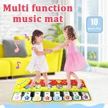 Cartoon Play Keyboard Musical Musik Singen Gym Mat Teppich Beste Kinder Spielzeug Stimulieren Neugier der Kinder детские игрушки Jouet