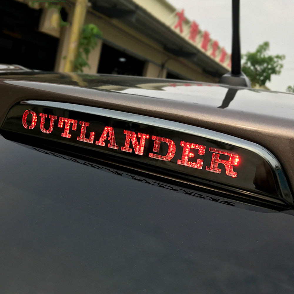 Car high Brake Lights Lamp Decorative Cover Stickers For Mitsubishi <font><b>Outlander</b></font> 2013 2014 2015 <font><b>2016</b></font> 2017 2018 2019 accessories image