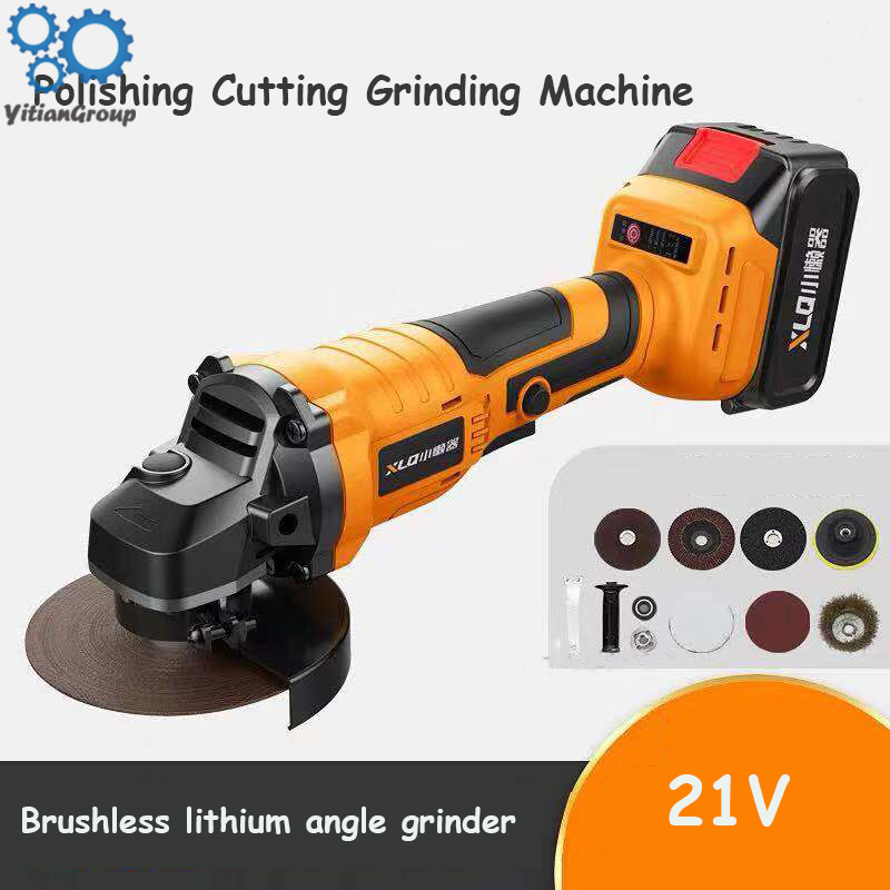 21V Multifunctional Angle Polishing Machine Angle Grinder Polishing Cutting Grind Sanding Tool Brushless Motor Grinding Machine