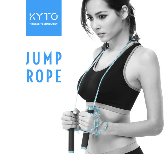 KYTO Jump Rope Crossfit Skipping Rope Adjustable 3M Training Cable With Bearing Steel Wire Loss Weight Speed Boxing, MMA 1