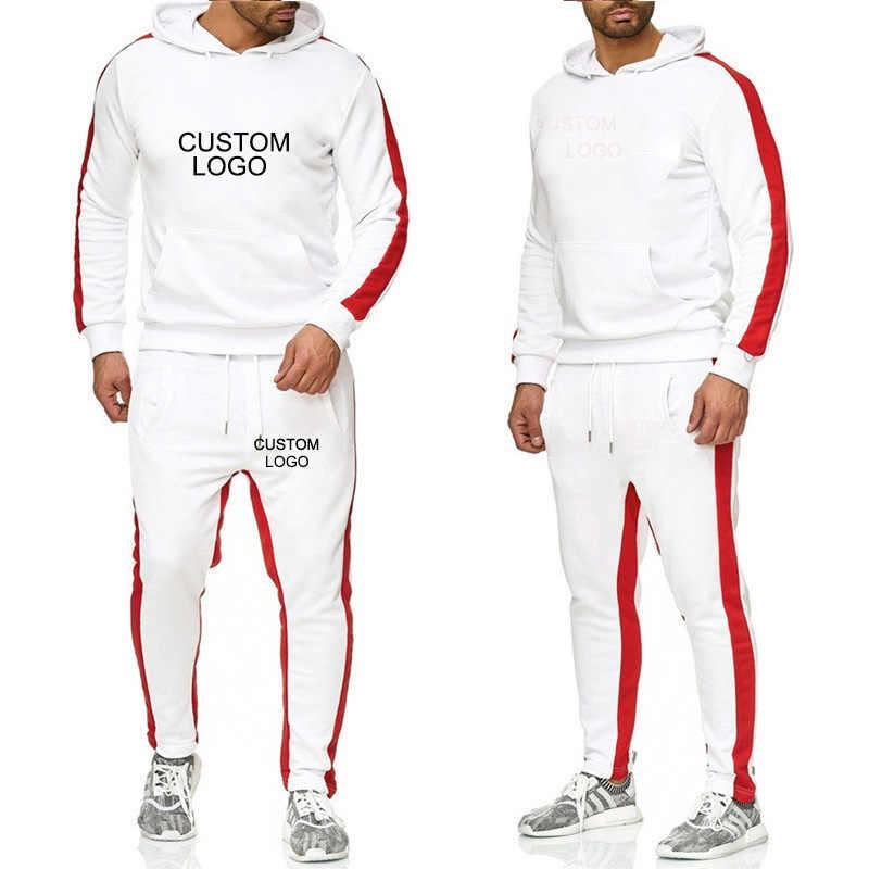 Mannen Sets Hoodies Sportkleding Tops + Broek 2 Delige Set Trainingspakken Jas Casual Solid Sweatsuit Custom Logo Man Kleding S-6XL