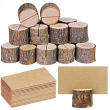 10 шт. мини-зажим для карты пень деревянные Стикеры для заметок Держатель для фото Свадебная вечеринка украшения